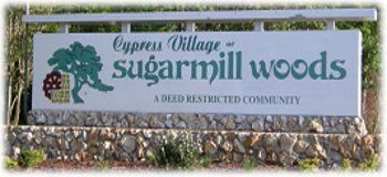 Cypress Village sign